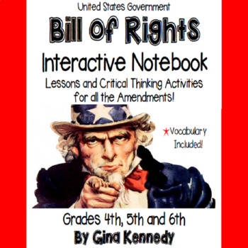 Constitution Bill of Rights Interactive Notebook, Activiti