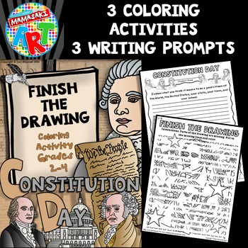 Constitution Day Finish The Drawing Coloring Activity