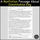 Constitution Day Reading Comprehension Paired Passages