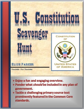Constitution Day -- U.S. Constitution Overview and Fun Sca