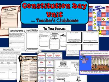 Constitution Day Unit from Teacher's Clubhouse