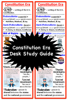 Constitution Era, Desk Study Guide