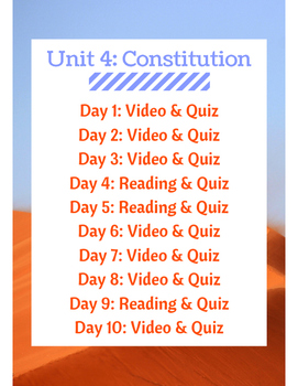 Constitution Flipped Learning
