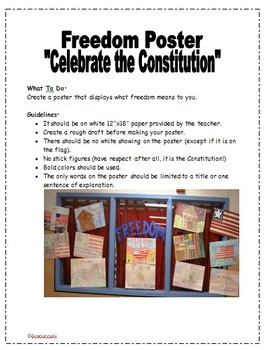"""Constitution """"Freedom Poster"""" Handout"""