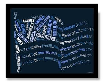 Constitution Vocabulary image for Classroom Decoration Pos
