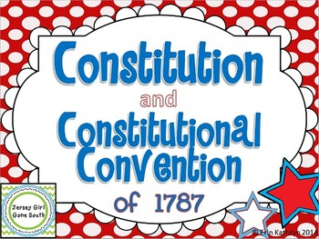 Constitution and Constitutional Convention of 1787 PowerPo