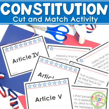 Constitution of the United States cut and sort activity -