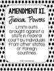 Constitutional Amendments 11-27 Paraphrased POSTERS - Blac
