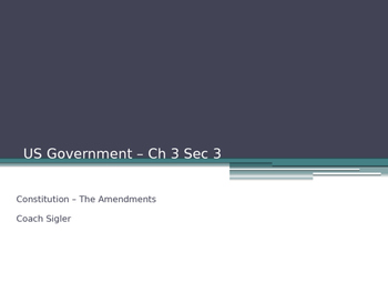 Constitutional Amendments U.S. American Government - from