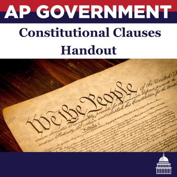 Constitutional Clauses Reference Handout