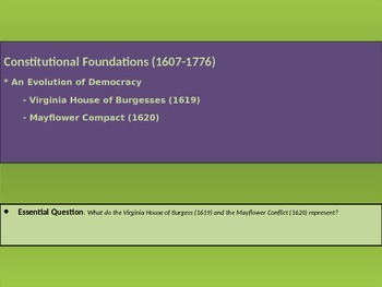 1. Constitutional Foundations - Lesson 3 of 8 - Colonial G