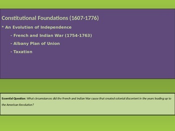 1. Constitutional Foundations - Lesson 5 of 8 - French & I