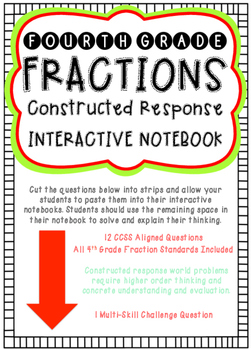 Constructed Response Problem of the Day (4th Grade Fractions)