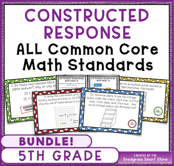 Constructed Response Problems - ALL 5th Grade Common Core Math