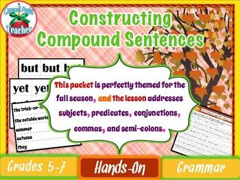 Constructing Compound Sentences {Interactive Sentence Stri