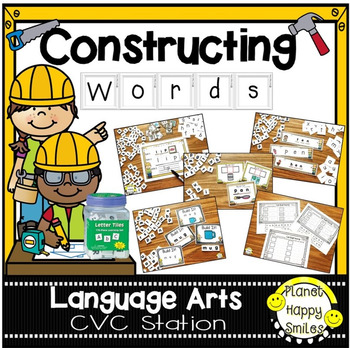 "Constructing Words CVC Phonics Station ~ 1"" Letter Tiles"