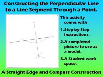 Constructing a Perpendicular to a Line Through a Point