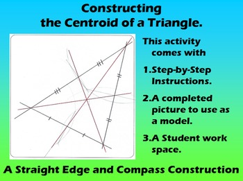 Constructing the Centroid of a Triangle