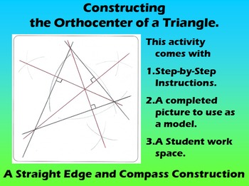 Constructing the Orthocenter of a Triangle