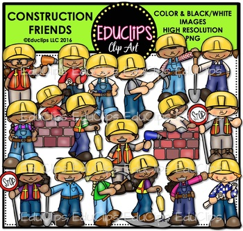 Construction Kids Clip Art Bundle
