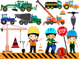 Construction Machines Clip Art dump cement transporation W