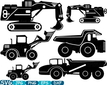 Construction Machines toy truck crane Clip Art school Logo