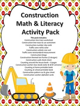 Construction Math & Literacy Activity Pack
