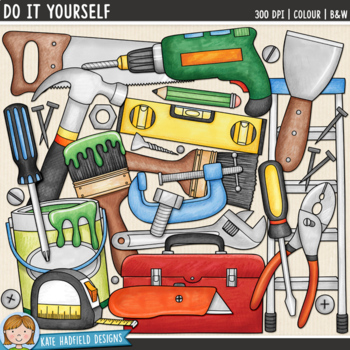 """Construction Tools Clip Art: """"Do It Yourself"""""""