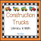 Math and Literacy - Construction Trucks