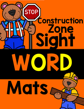 Construction Zone: Sight Word Mats! Pre-Primer Edition