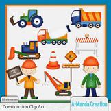 Construction and Trucks Clip Art
