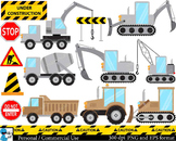 Construction gray and brown Digital Clip Art Graphics 26 i