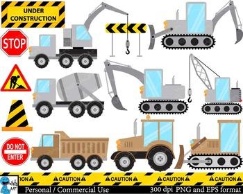 Construction gray and brown Digital Clip Art Graphics 26 i