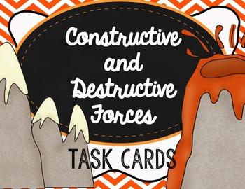 Constructive and Destructive Forces Task Cards