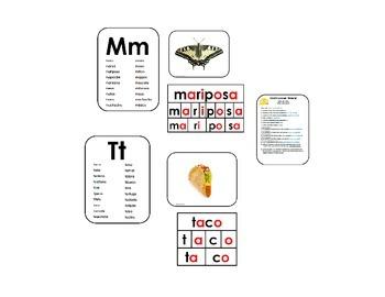 Construyendo palabras con la M,B,P,S,T,D