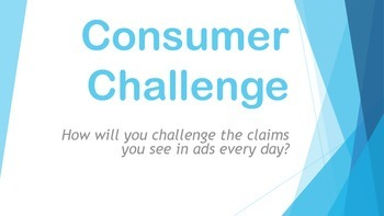 Consumer Challenge - Introduction, Proposal to Test and Pr