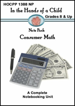 Consumer Math: A Thematic Notebooking Unit