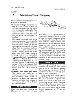 Consumer Spending: The Wise Buyer-Principles of Smart Shopping