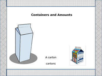 Containers and Amounts