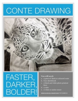 Conte or Charcoal Drawing (Mini-Unit WITH VIDEO TUTORIAL)