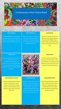 Contemporary Artist Choice Board