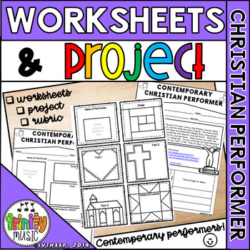 Contemporary Christian Music Performers (Worksheets and Project)