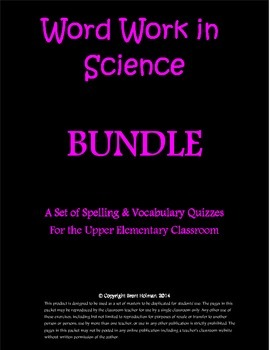 Content-Based Word Work Bundle - Science