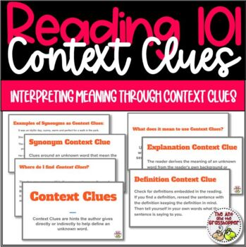 Reading Context Clues 101 for Upper Grades