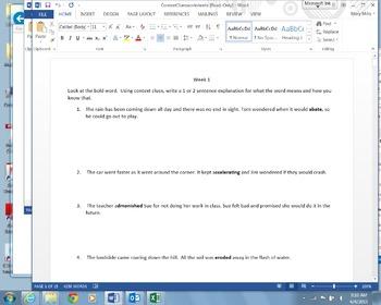 Context Clues 16 worksheets