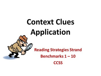 Context Clues ~ Application Assignment with KEY