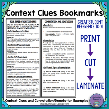 Context Clues Bookmarks