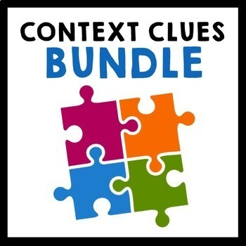 Context Clues Bundle - Grade 5-8 {Task Cards, Exit Slips,