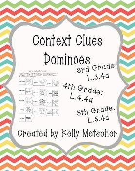 Context Clues Dominoes - L3.4a, L4.4a, L5.4a