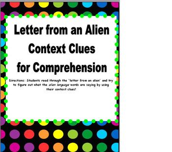 Context Clues: Letter from an Alien!